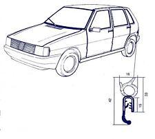 Guarnizione portellone posteriore Fiat Uno