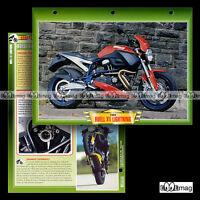 #019.05 Fiche Moto BUELL 1200 X1 LIGHTNING Modèle '99 Motorcycle Card