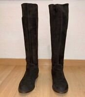 Unuetzer Knee-High Suede Leather Boots 2922 Brown Size 37 (US 7)
