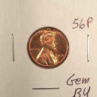 1956 P Lincoln Wheat Cent Gem BU