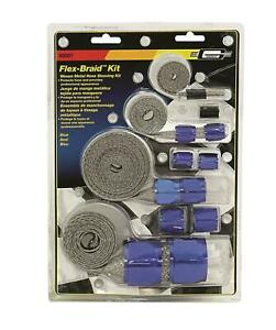 Mr. Gasket 8091 Hose Sleeve Flex-Braid Hose Sleeving Blue Kit