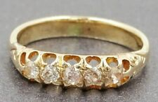 Vintage Diamond Ladies Ring Wedder/Engagement 9ct Rose Gold Fine Jewelry