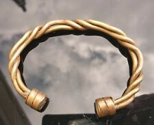 Rare Twisted antique Torc, Bangle, metal detector find, please read.