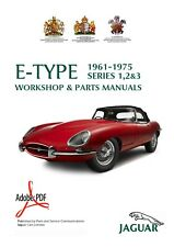 1961-1975 JAGUAR E-TYPE SERIES 1,2+3  WORKSHOP SERVICE MANUAL+PARTS MANUAL