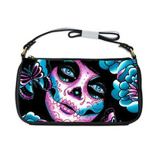Carissa Rose Art Clutch Shoulder Bag Calavera Sugar Skull Tattoo Art Flash Purse