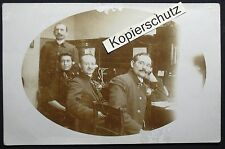 Foto-Ak Holzminden (?!), Fernsprechamt Postamt Telegraphenamt ?!, gel. 1913