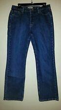 Nice Indigo Blue RIDERS Straight Leg Size 12 M Jeans IZS-E858-005 Excellent cond