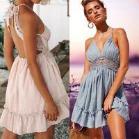 Sexy Summer Casual Evening Cocktail Women Party Short Mini Dress Beach Sundress