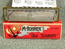 Vintage M. Hohner Old Stanby Harmonica 34B Key Of C In Original Box Germany