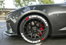 """Tire Lettering CHEVROLET PERMANENT Stickers Wheel 14""""-24"""" TYRE 8x Decal 1.25"""""""