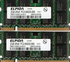 4GB 2X 2GB Kit TOSHIBA SATELLITE A215 S4697 S4717 S4747 S4757 S4767 DDR2 Memory