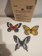 Vintage - Home Interiors - Set of 3 Butterfly Decorative Plaques - NIB