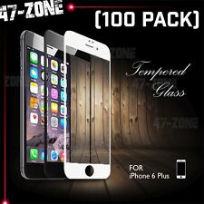"For iPhone 6 6S Plus 5.5"" FULL COVER Temper Glass Screen Protector Black 100PC"