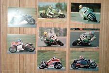 8 carte postale moto circuit Bugatti 1982 Yamaha Honda Kawasaki Suzuki Japauto