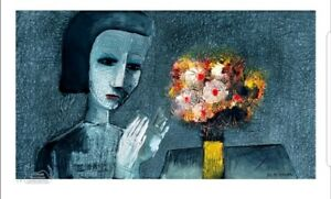 """CHARLES BLACKMAN """"Girl With Flowers"""""""