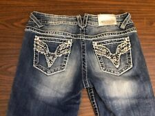 VIGOSS The CHELSEA Capris Med Wash Denim Blue Jean Capris 7/8