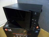 LG MH6535GIS Mikrowelle mit Smart Inverter Technologie, Quarz Grill, 25L schwarz