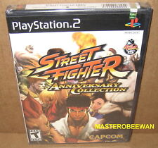 Street Fighter Anniversary Collection (PlayStation 2, 2004) PS2 1st Print New