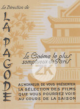 LA PAGODE Salle de Cinéma PARIS Architecture MOVIE THEÂTRE Publicité 1940s