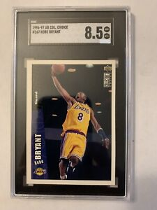 1996-97 UD Collector's Choice #267 Kobe Bryant RC HOF SGC 8.5 MT+ PSA/BGS 🔥