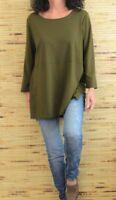 J.Jill Womens Ponte Tunic Size XS Green 3/4 Sleeves Jersey Knit Shirt Top G10
