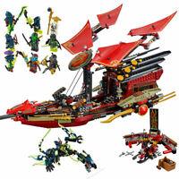 Ninjago Final Flight of Destiny's Bounty 1325 PCS Building Blocks Bricks Model