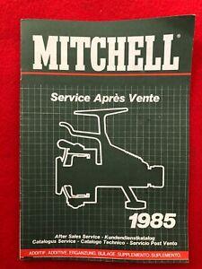 LIVRE MITCHELL SERVICE APRES VENTE 1985 (PECHE)