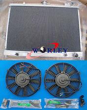FOR Nissan Pintara Skyline R31 AT/MT Aluminum Radiator  +  Fans