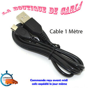 CABLE DE 1M CHARGE MICRO USB NOIR POUR MANETTE PLAYSTATION SONY PS4 XBOX ONE