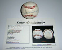 BRAVES Hank Aaron & Warren Spahn signed baseball JSA LOA HOFers AUTO Autographed
