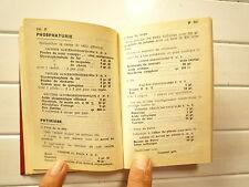 FORMULAIRE MEDICAL FRANCAIS DE A DUCHEMIN ET G BOEZ 13 eme EDITION 1958