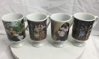 Vintage 4 MGM Arnart Smug Mugs Japan GIGI WIZARD OF OZ GONE W/the WIND GO WEST