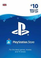 Playstation Network Card PSN Key 10 Pound [UK] - PS3/ PS4/ PS Vita - UK account