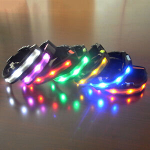 LED Dog Leash Pet Dog Collar Flashing Glowing Collars Necklace Dogs Pet Products