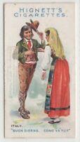 Native Italian Man And Woman Greeting Clothing Fashions 100+ Y/O Trade Ad Card