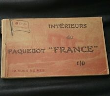 CGT FRENCH LINE SS FRANCE I912 Postcard Booklet