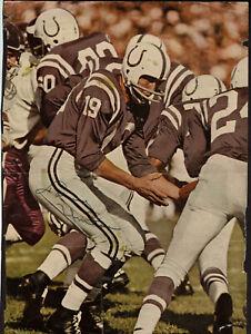 Johnny Unitas Autographed Magazine Photo Signed Baltimore Colts  8 x 10 JSA
