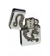 Hadson Wind Resistant Petrol Dragon Lighter - Chinese Dragon Design In Gift Case