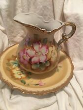 Vintage Made In Japan Homco Pitcher And Bowl Handpainted Beauty
