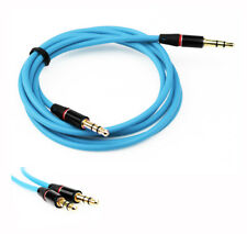 4FT 3.5MM AUX M/M AUDIO CABLE AQUA BLUE FOR LG G2 OPTIMUS G PRO HTC ONE MOTO X G