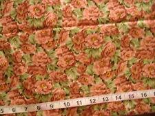 "100% Cotton Fabric ""Secret Garden"" by RJR Fabrics, Brownish Mauve Flowers"