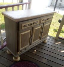Refinished Rustic Solid White Oak Hutch