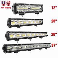 "Nilight Triple Row LED Light Bar 37"" 26"" 20"" 12inch Spot Flood Combo OffRoad 4WD"