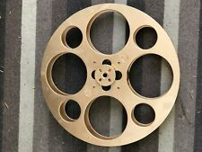 """GOLDBERG 35mm film reel w/ 70mm projector adaptable, 17"""" / 3000ft Gold painted"""
