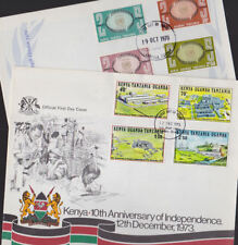 Kenya Uganda Tanzania 1970-73 FDC Official First Day Cover UN Independence Ann.