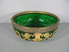 Jaw round Nose Victor Saglier Compotier Glass Enamelled & Brass Style Louis XVI