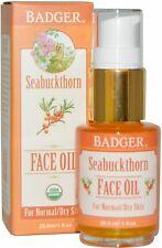 Seabuckthorn Face Oil for Dry Skin, Badger, 1 oz