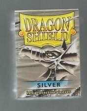 (100) Dragon Shield Silver Protective Sleeves Sealed Magic MTG FREE SHIPPING
