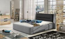 Doppelbett Bett Betten Design Hotel Luxus Polster Ehe Leder 140 160 180 x 200cm