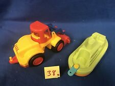 Lot Of 2 Wader toys Plastic Construction Truck And Boat Made in Germany